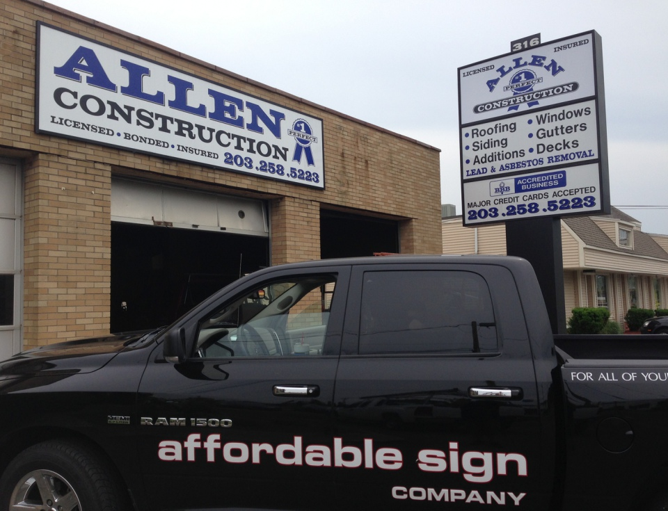 Affordable Sign Company Milford CT vehicle lettering, signs, vehicle wraps